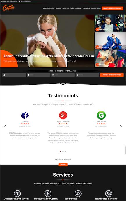 7 Best Martial Arts Website Designs of 2019   97 Display