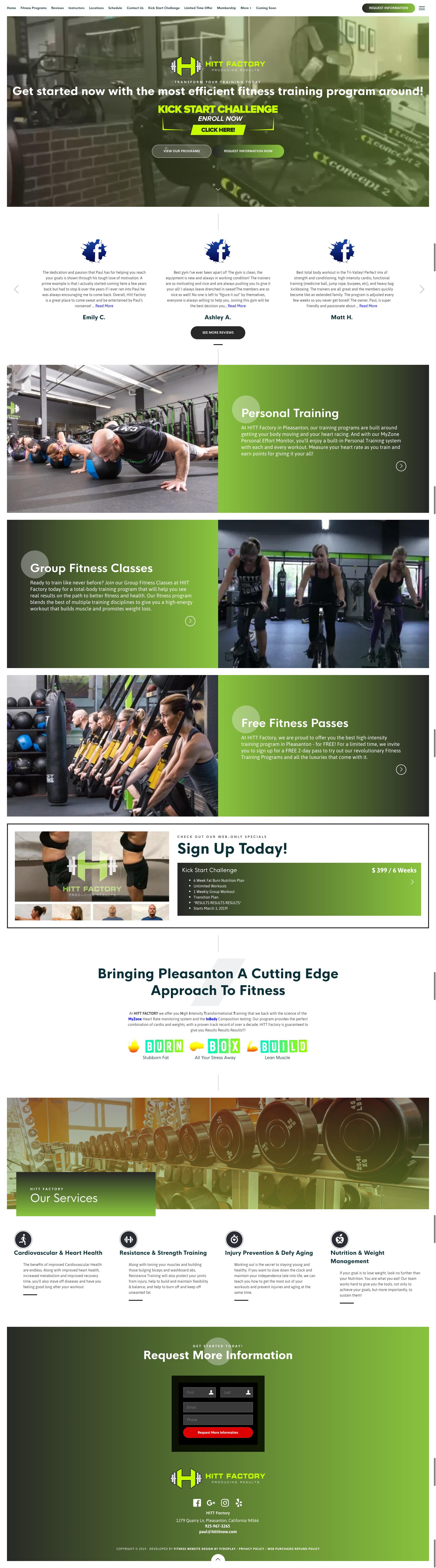 7 Best Fitness Website Designs 2019   97 Display Martial Arts